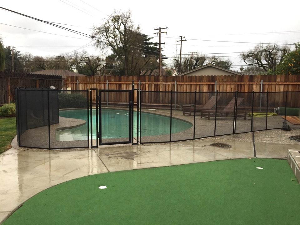Modesto baby barrier pool fence of san jose