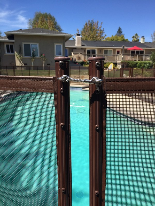 Baby Barrier Pool Fence Brown Safety Latch