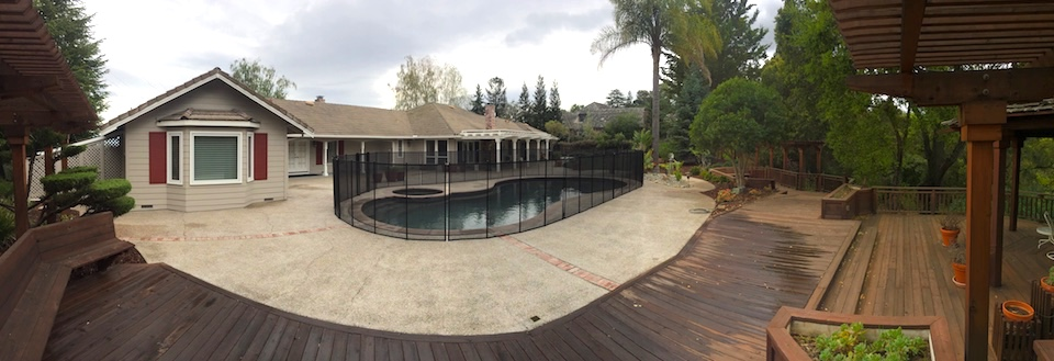 Pool Fence Saratoga California