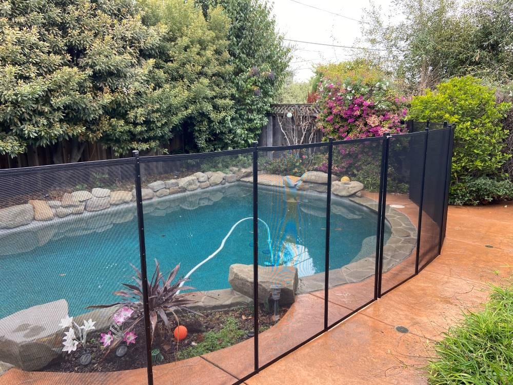 Saratoga California Pool Fence