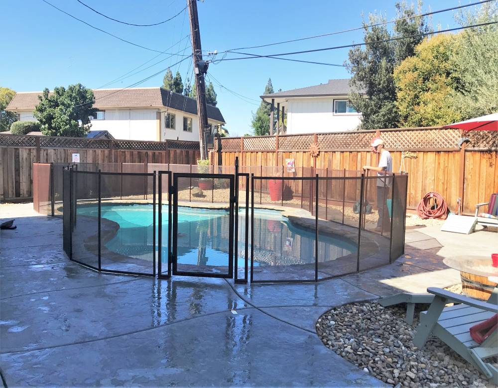 Brown Baby Pool Fences